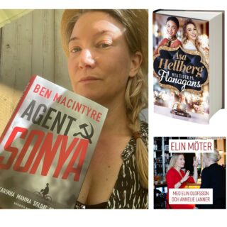 Moffa – berättelsetipsen! – i nya avsnittet av podden ELIN MÖTER är Åsa Hellbergs bok Nya tider på Flanagans, podcasten P3 Krim och boken Agent Sonya av Ben Macintyre.